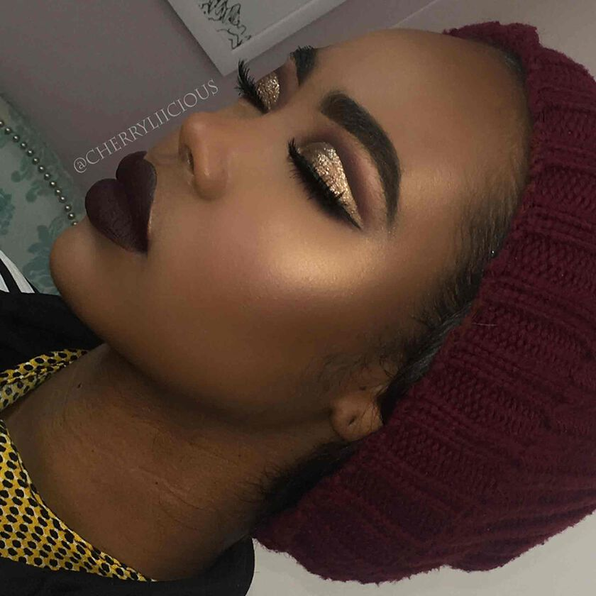 Explore the Holiday Cut Crease by @cherryliicious featuring Sun Dipped Glow Kit