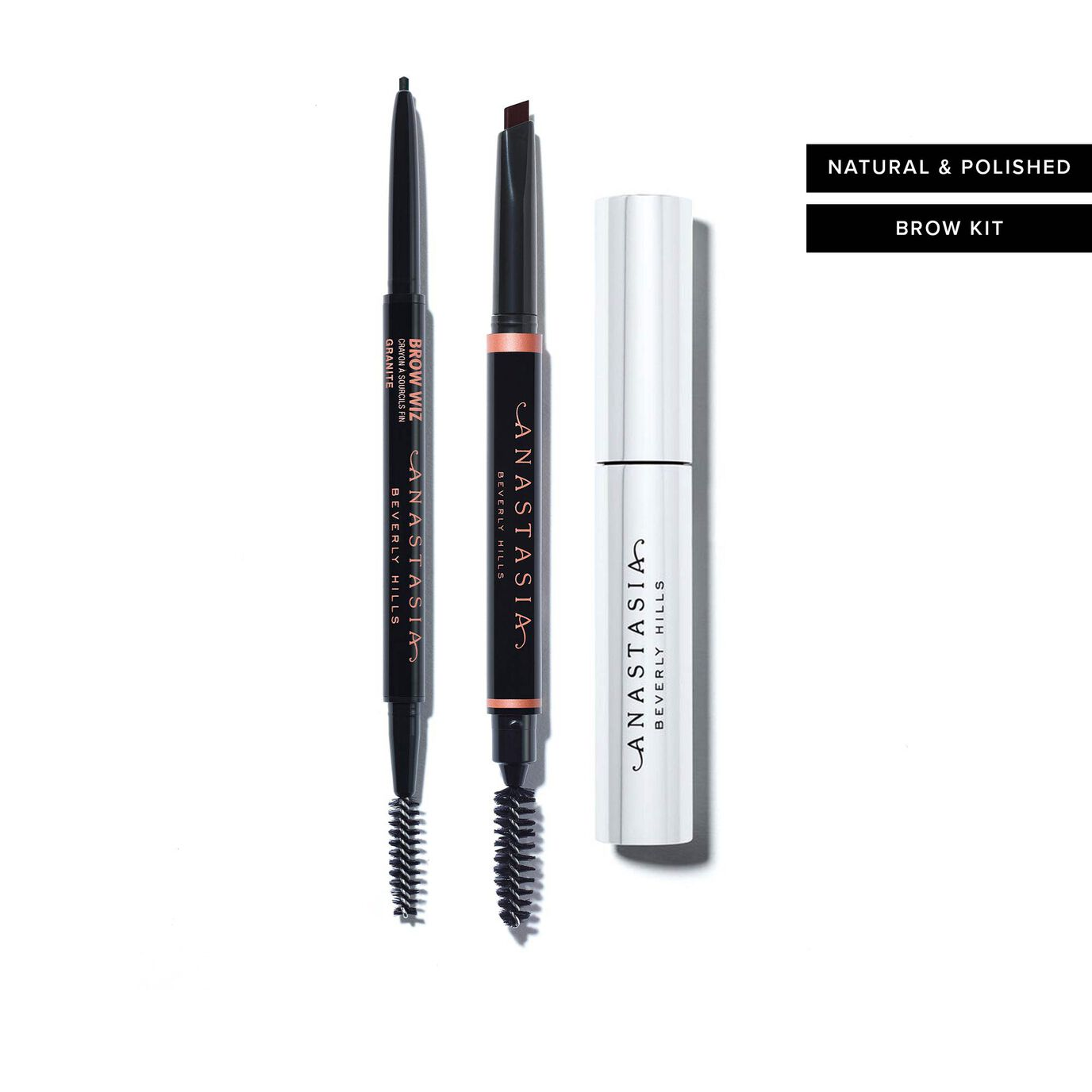 Natural & Polished Brow Kit  - Ebony and Granite
