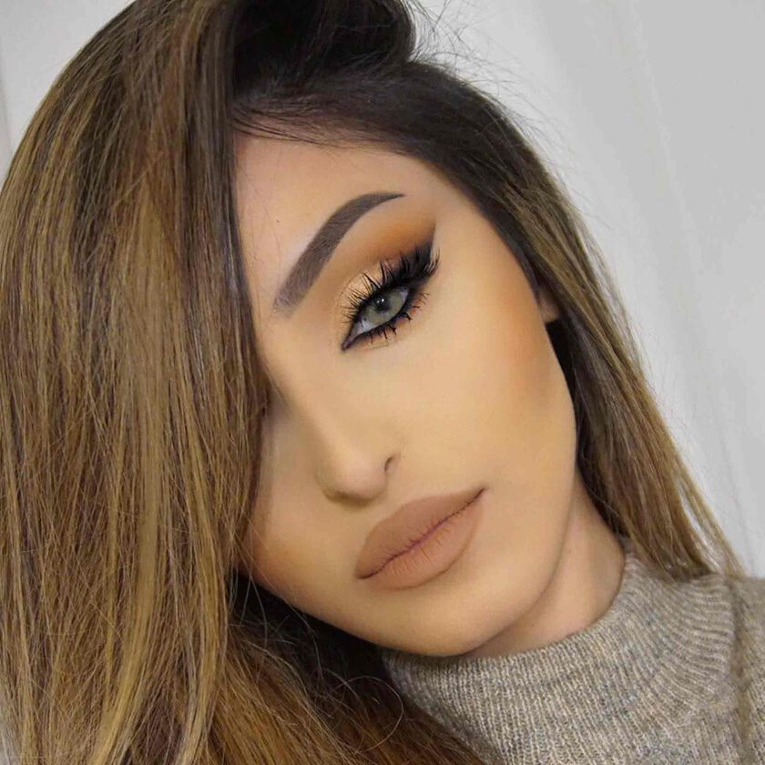 Explore the Natural Seduction by @rahmanbeauty featuring Stick Foundation - Warm Tan