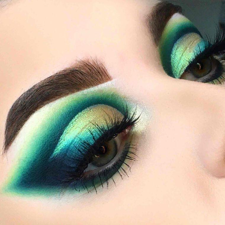 Explore the Emerald City by @emmaahp featuring NORVINA® Pro Pigment Palette Vol. 2