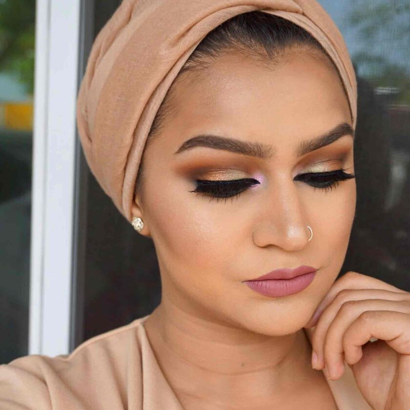Explore the Pop of Pink by @demureartistry featuring Stick Foundation - Mink