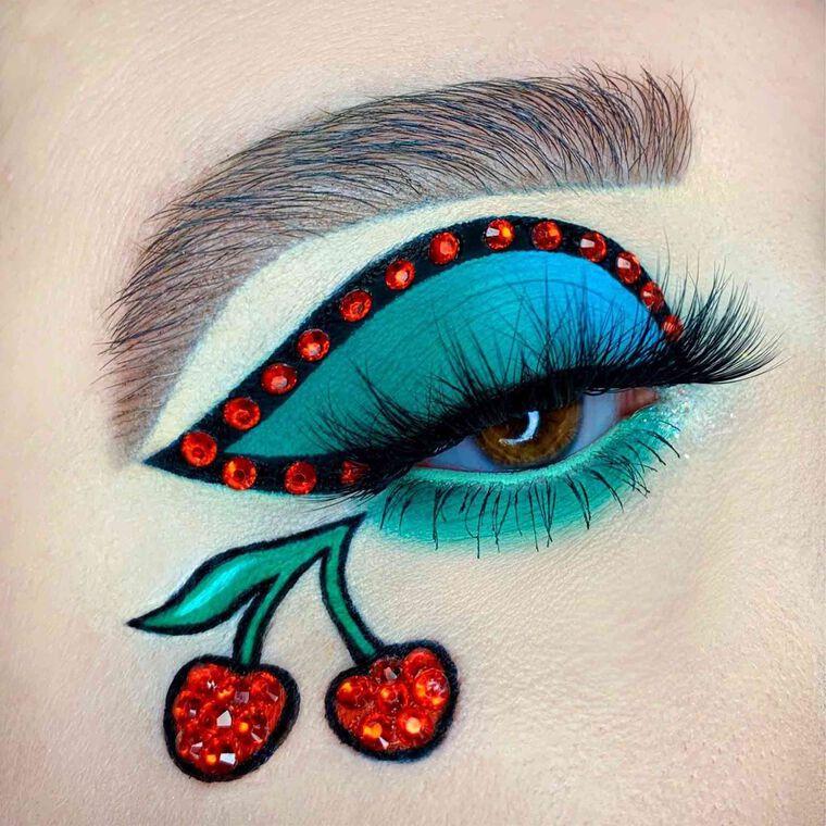 Explore the Cherry Bomb by @alexaraemua featuring Mini NORVINA® Pro Pigment Palette Vol. 3