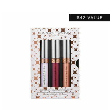 Mini Metallic Liquid Lipstick 3-Piece Set