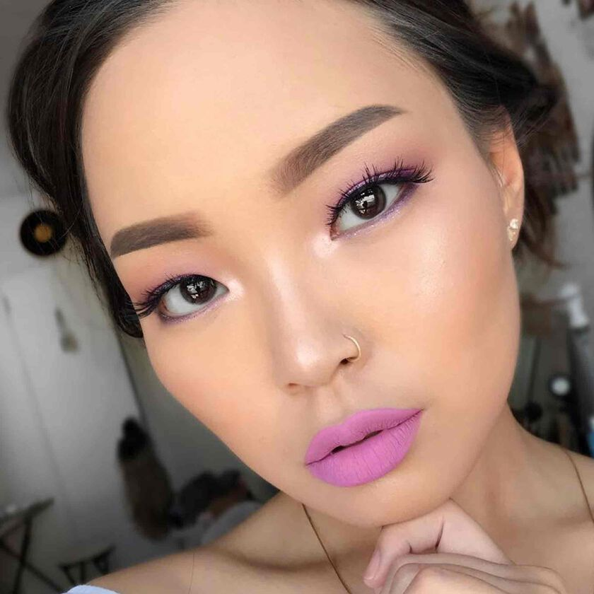 Explore the Purple Haze by @inngenue featuring Sugar Glow Kit