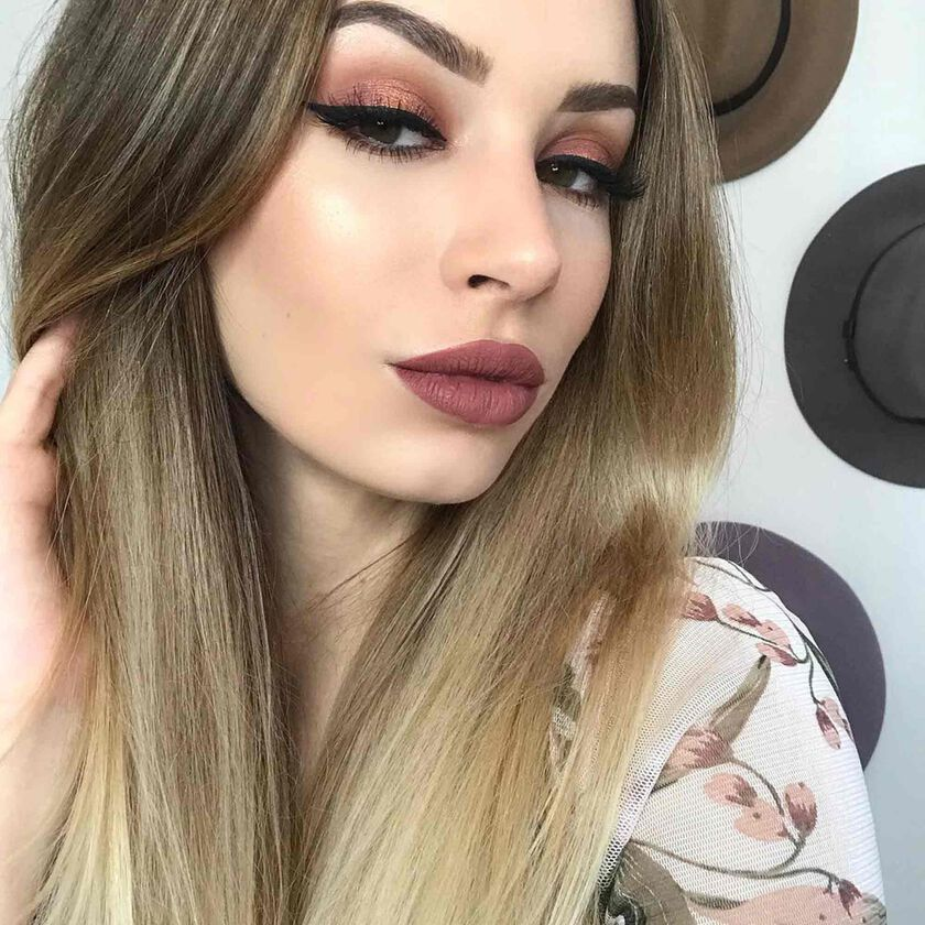 Explore the Rosie Outlook by @daniellekimberleyxo featuring Matte Lipstick - Rosewood