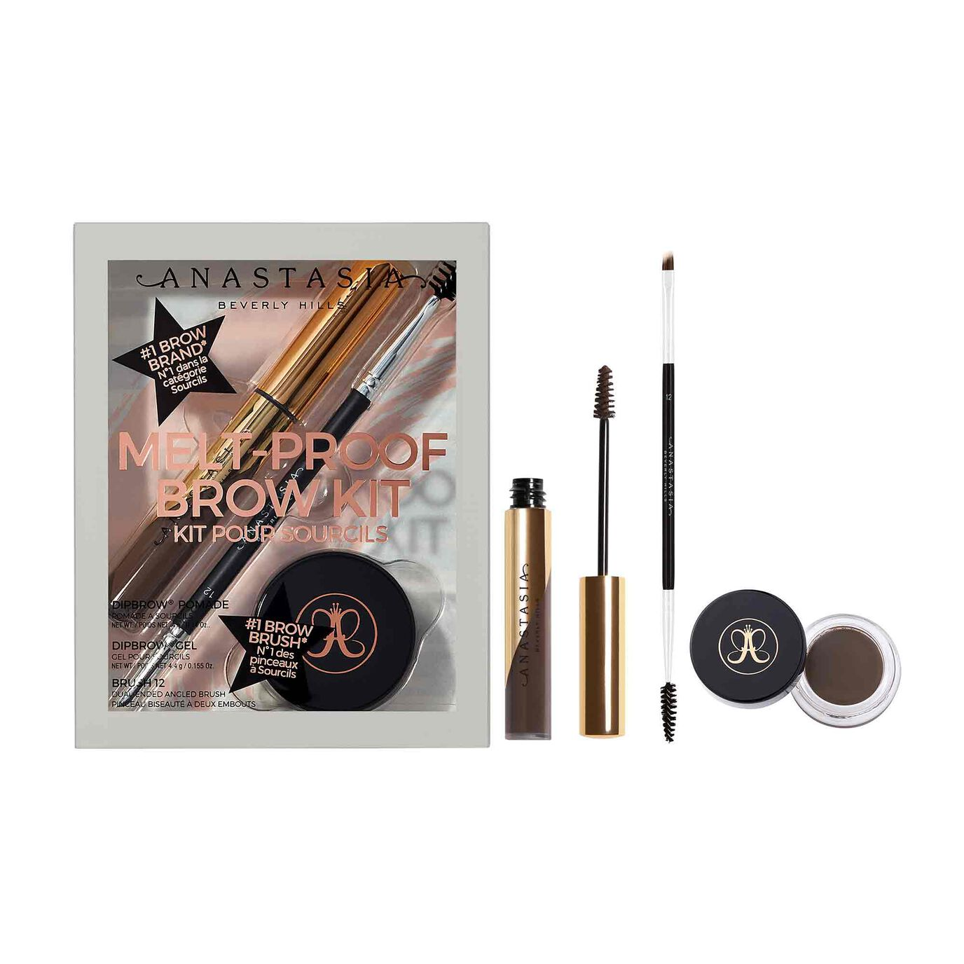 Melt-Proof Brow Kit - Dark Brown