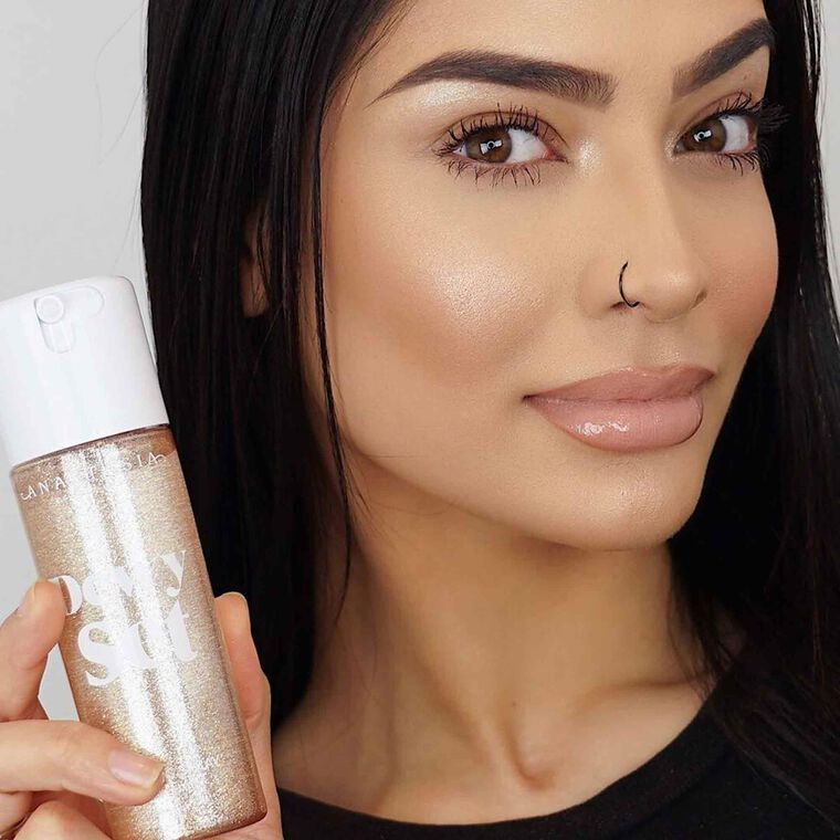 Explore the Dewy Glow by @makeupbyalaha featuring Brow Powder Duo - Medium Brownnull