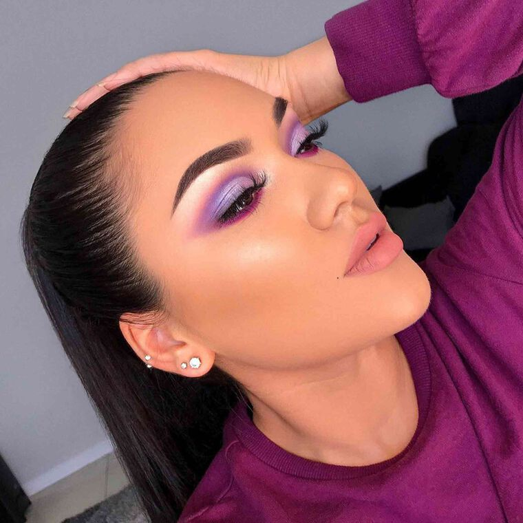 Explore the Purple Hue by @cherrie.chavez featuring Brow Wiz® - Dark Brown