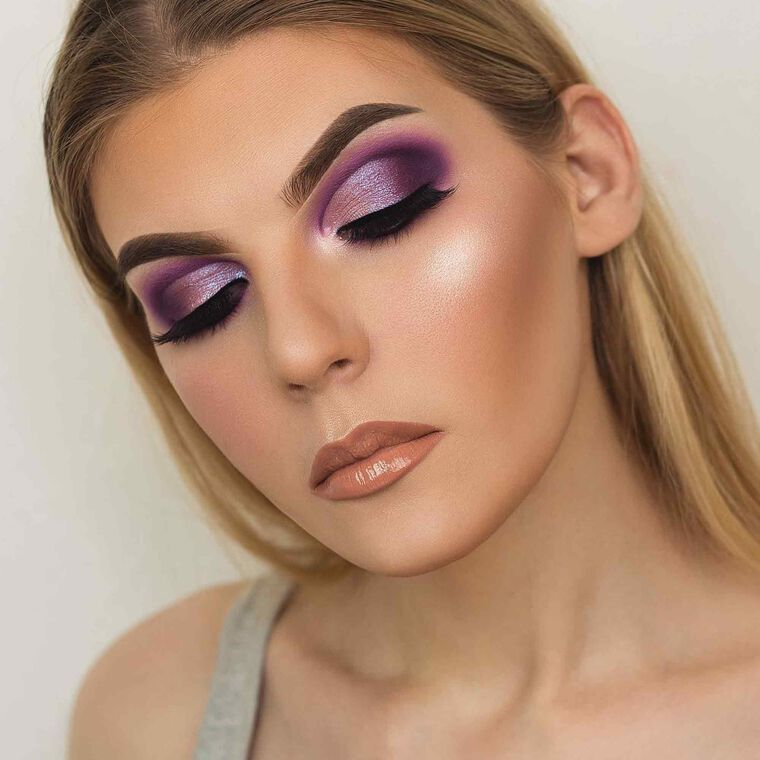 Explore the Purple Pleasures by @spencermakeup featuring DIPBROW® Pomade - Medium Brown