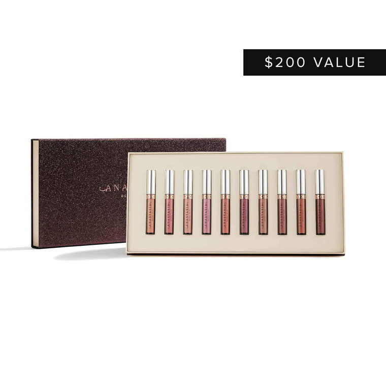 Liquid Lipstick 10-Piece Collection - Light Neutrals
