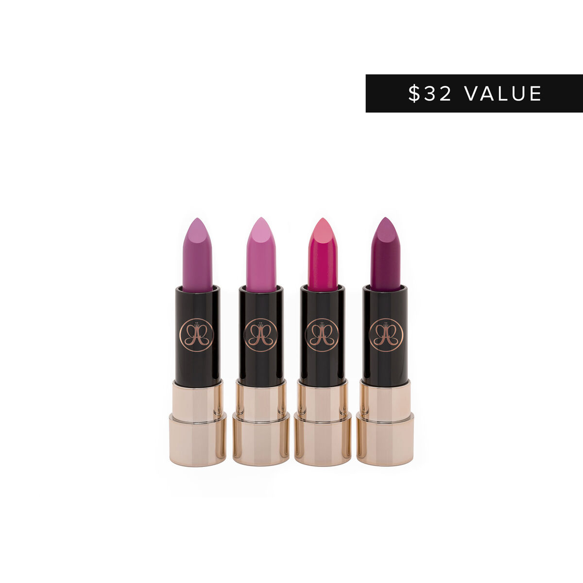 Mini Matte Lipstick 4-Piece Set - Pinks & Berries