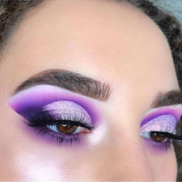 Explore the Purple Rain by @beautybyspela featuring NORVINA® Pro Pigment Palette Vol. 1