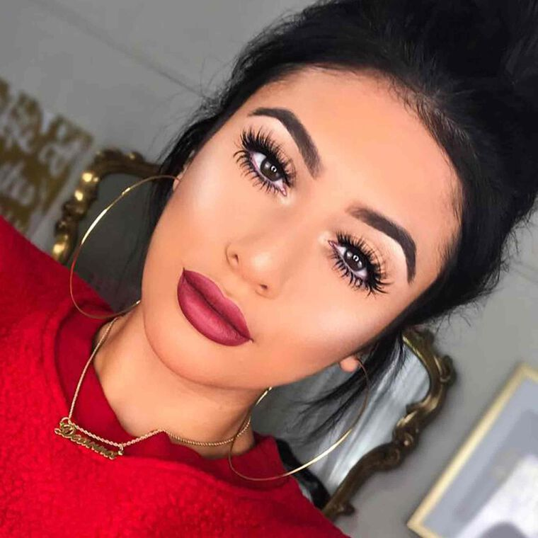 Explore the Lashes + Lips by @deelishdeanna featuring Brow Powder Duo - Dark Brownnull