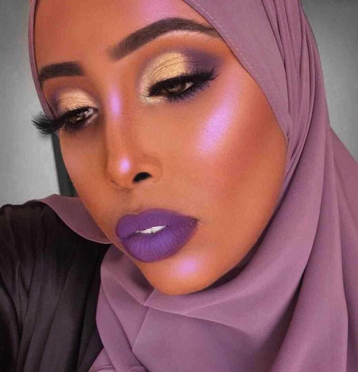 Explore the Royal Glam by @thenubiandoll featuring Liquid Lipstick - Violet