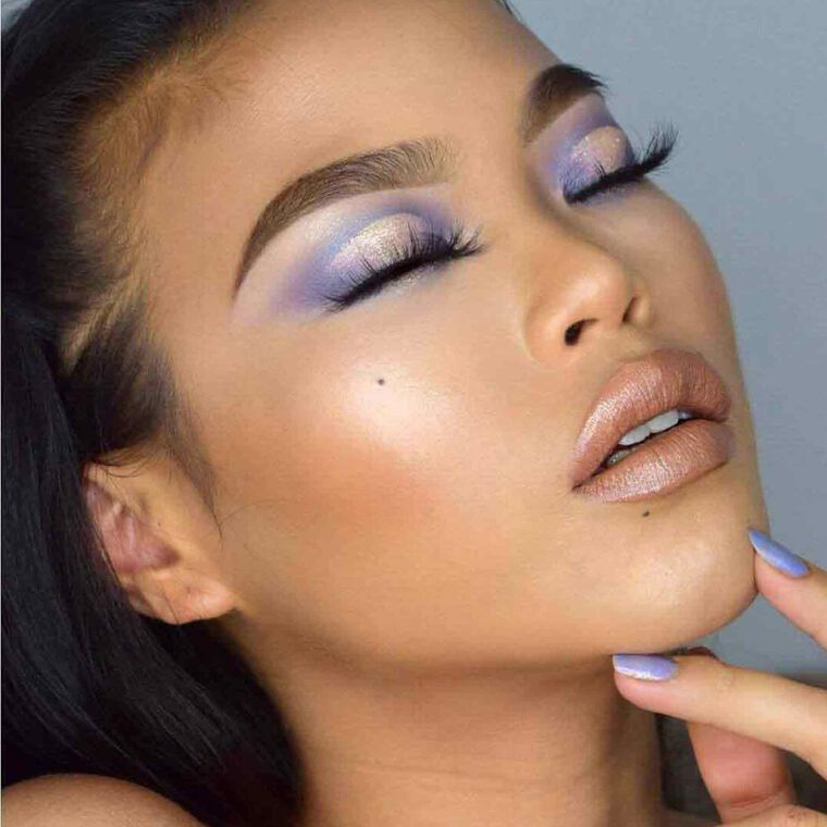 Explore the Lush Lavender by @zeezyxbeauty featuring Brow Definer - Dark Brownnull