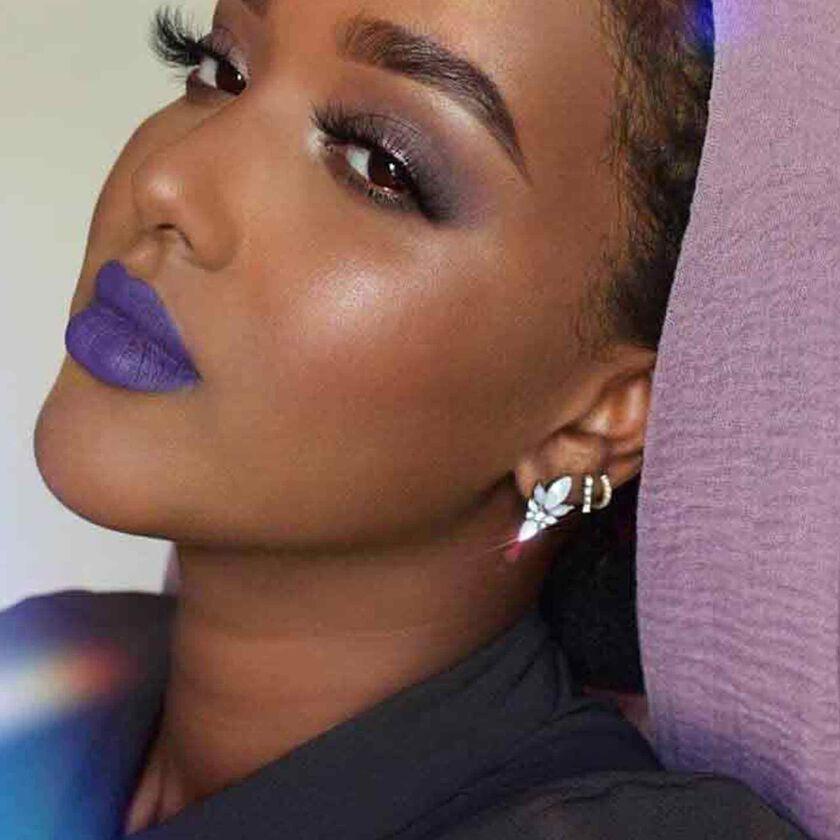 Explore the Jewel Tones by @djibeautyy featuring Liquid Lipstick - Violet