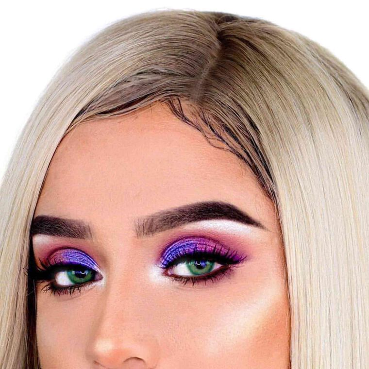 Explore the Purple Vision by @melcastanedaa featuring DIPBROW® Pomade - Dark Brown