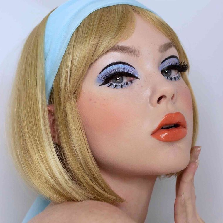 Explore the Sweet Cotton Candy by @beatsbylizzie featuring Luminous Foundation - 130N