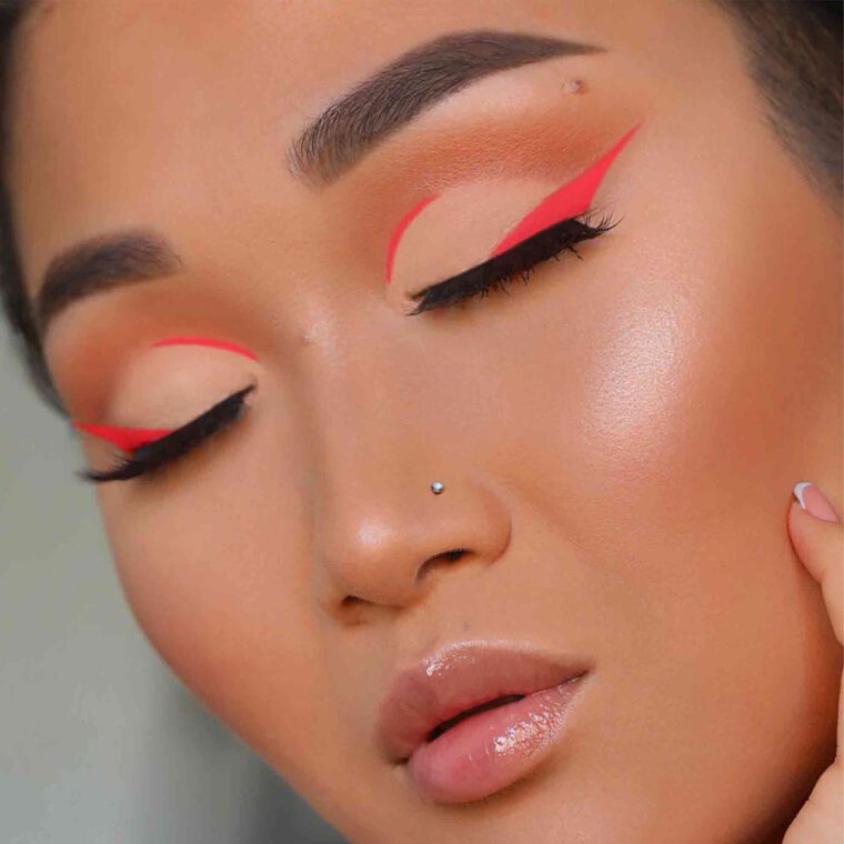 Explore the Pink Retro by @asianqueen1 featuring Brow Definer - Taupe