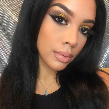 Explore the Gold Rush by @makeupartist_gia featuring Liquid Glow - Bronzednull