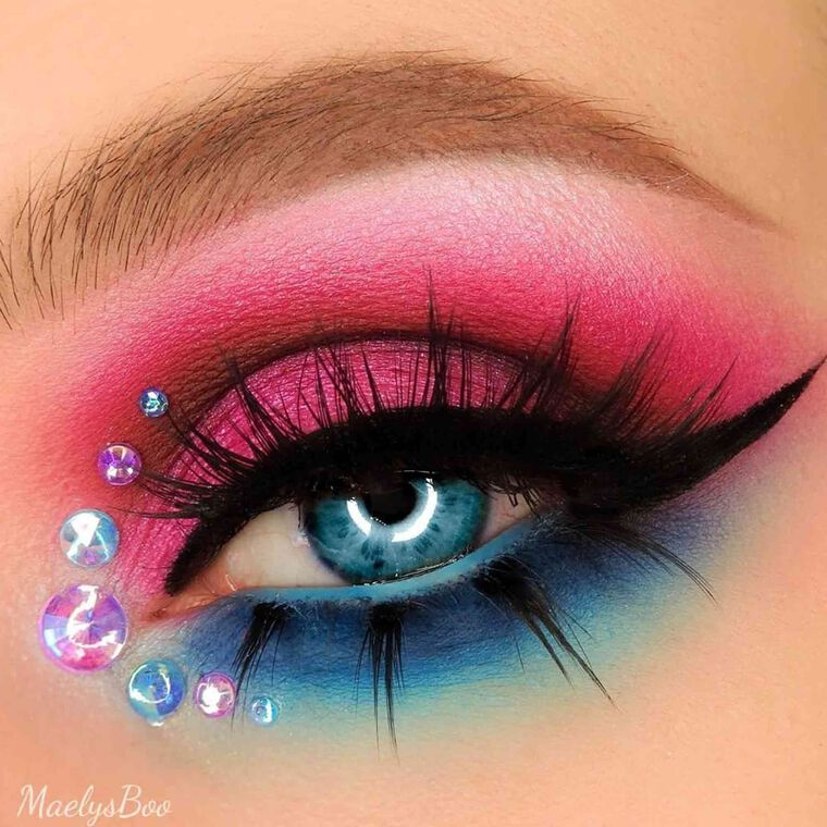 Explore the Mermaid Jewels by @maelysboo featuring NORVINA® Pro Pigment Palette Vol. 2