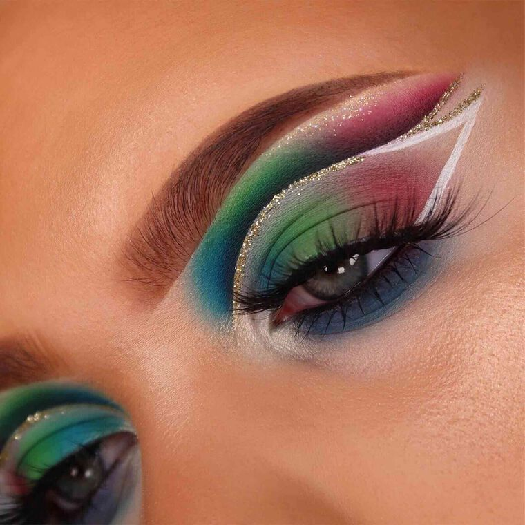 Explore the Dark Rainbow by @beautybyspl featuring DIPBROW® Pomade - Soft Brown