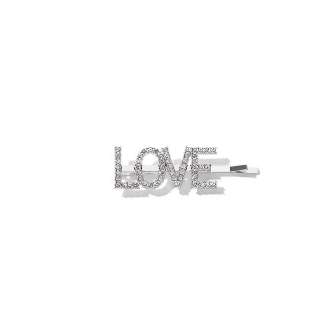 ABH Glam Hairpins - Silver Rhinestone Love