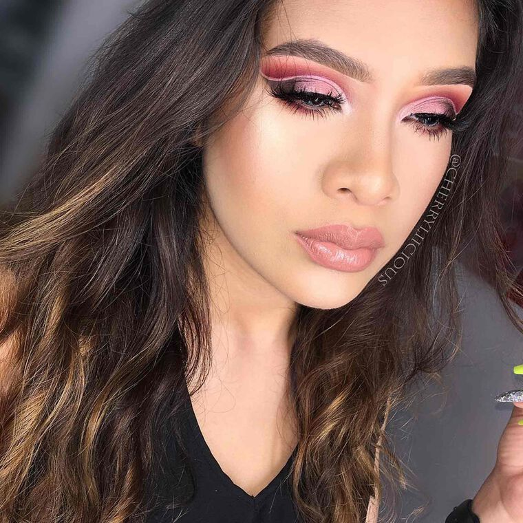 Explore the Monochromatic Pink by @cherryliicious featuring Blush Trio - Cocktail Partynull