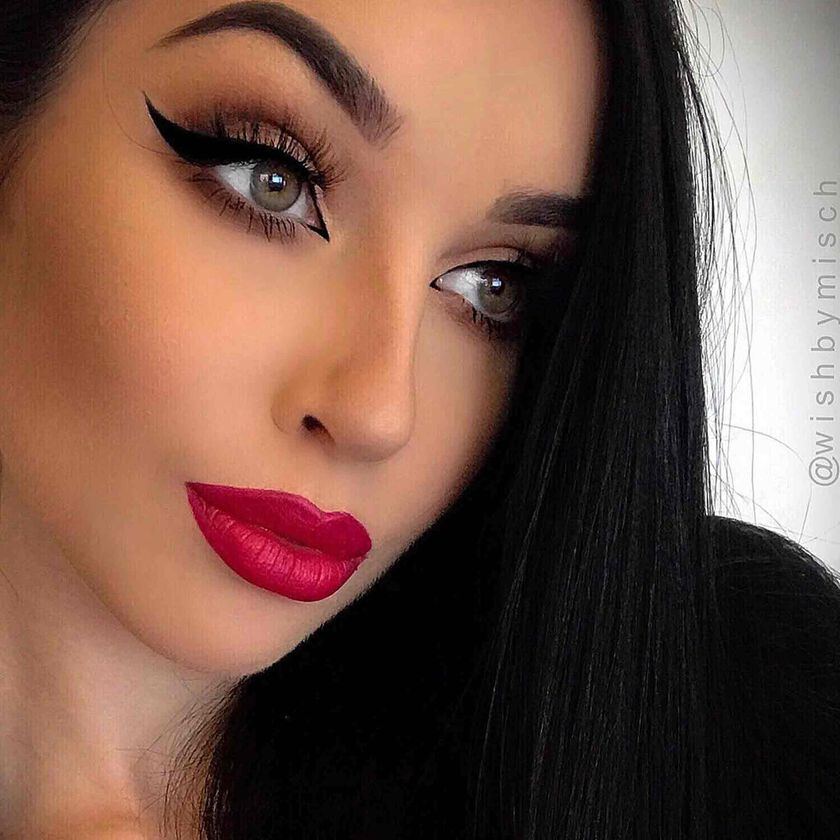 Explore the All Matte Everything by @wishbymisch featuring Matte Lipstick - Ruby