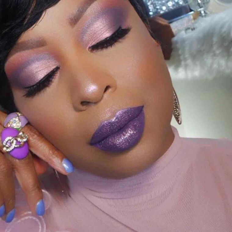 Explore the Legendary Lips by @itscrystalbeauty featuring Liquid Lipstick - Violetnull