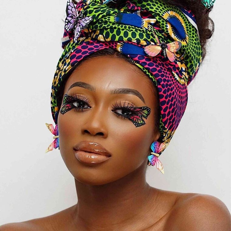 Explore the Fly Like A Butterfly by @vanessa_gyimah featuring NORVINA® Pro Pigment Palette Vol. 2