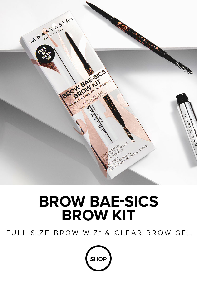 Brow Bae-sics Brow Kit with Full Size Brow Wiz and Clear  Brow Gel