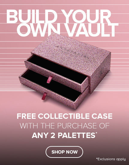 Free Collectible Case with the purchase of any 2 palettes
