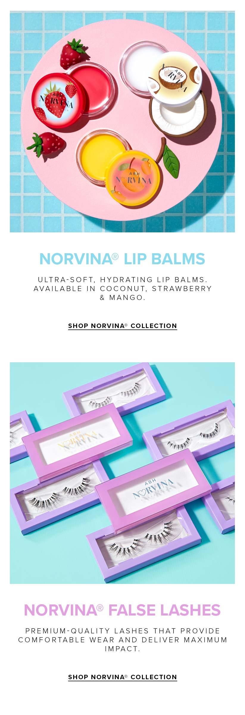 Norvina Lip Balms and Norvina False Lashes