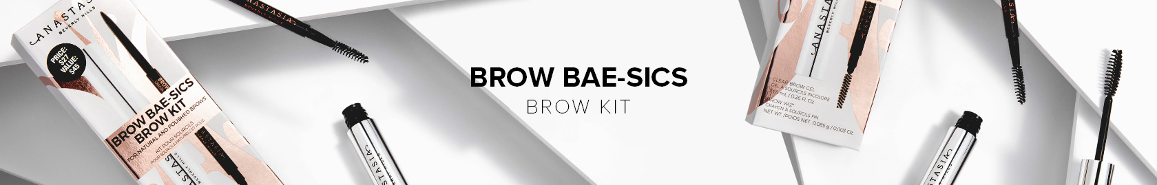 Brow Bae-sics Brow Kit with a full size Brow Wiz and Clear Brow Gel