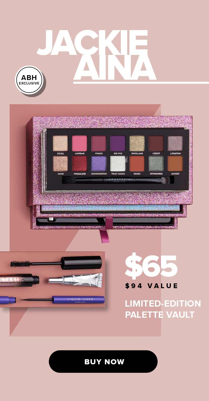 Jackie Aina Limited Edition Palette Vault.