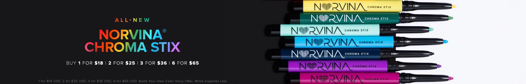 All New Norvina Chroma Stix