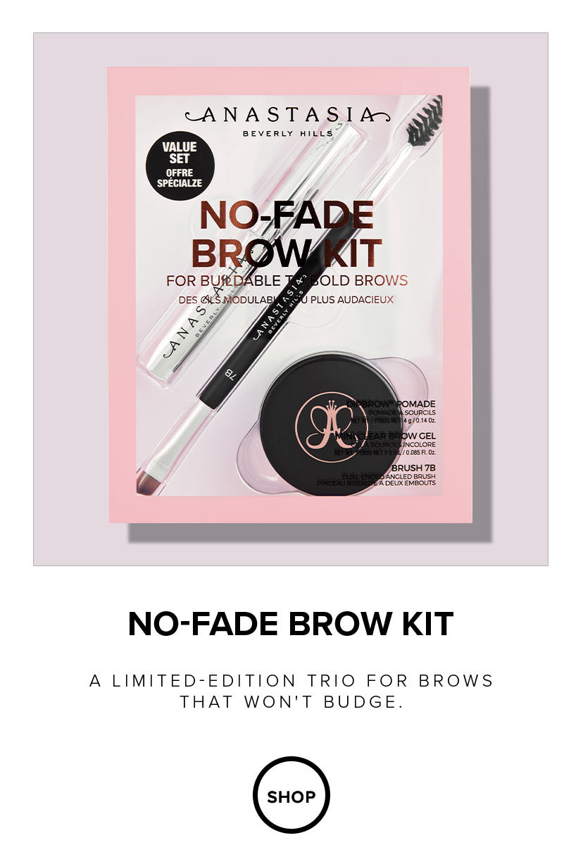 No Fade Brow Kit - Limited Edition Trio for brows that won't budge