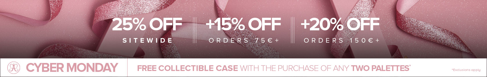 25% off sitewide | +15% off when you spend 75€ | +20% off when you spend 150€