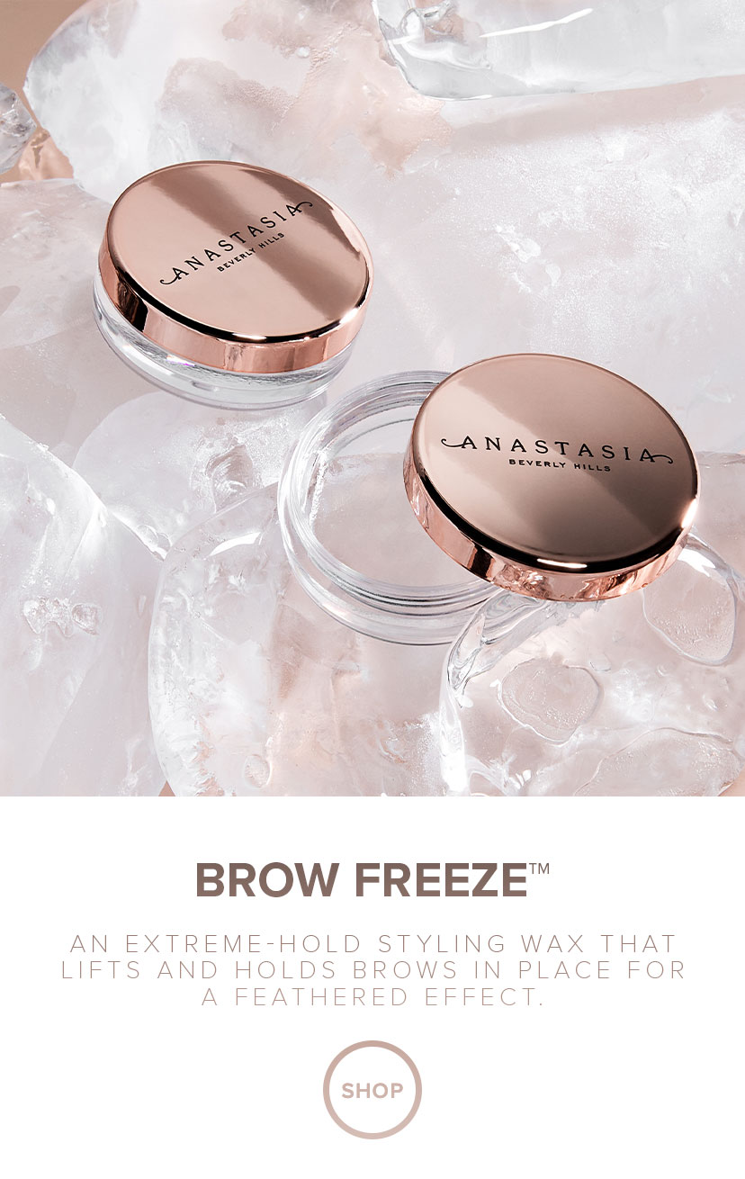 Brow Freeze - An Extreme Hold styling wax that lifts and holds brows in place for a feathered effect