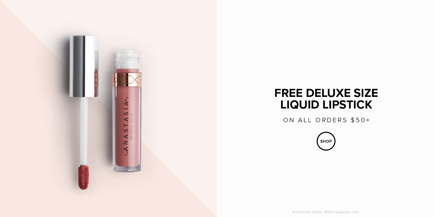 Free Liquid Lip Mini on $50 orders