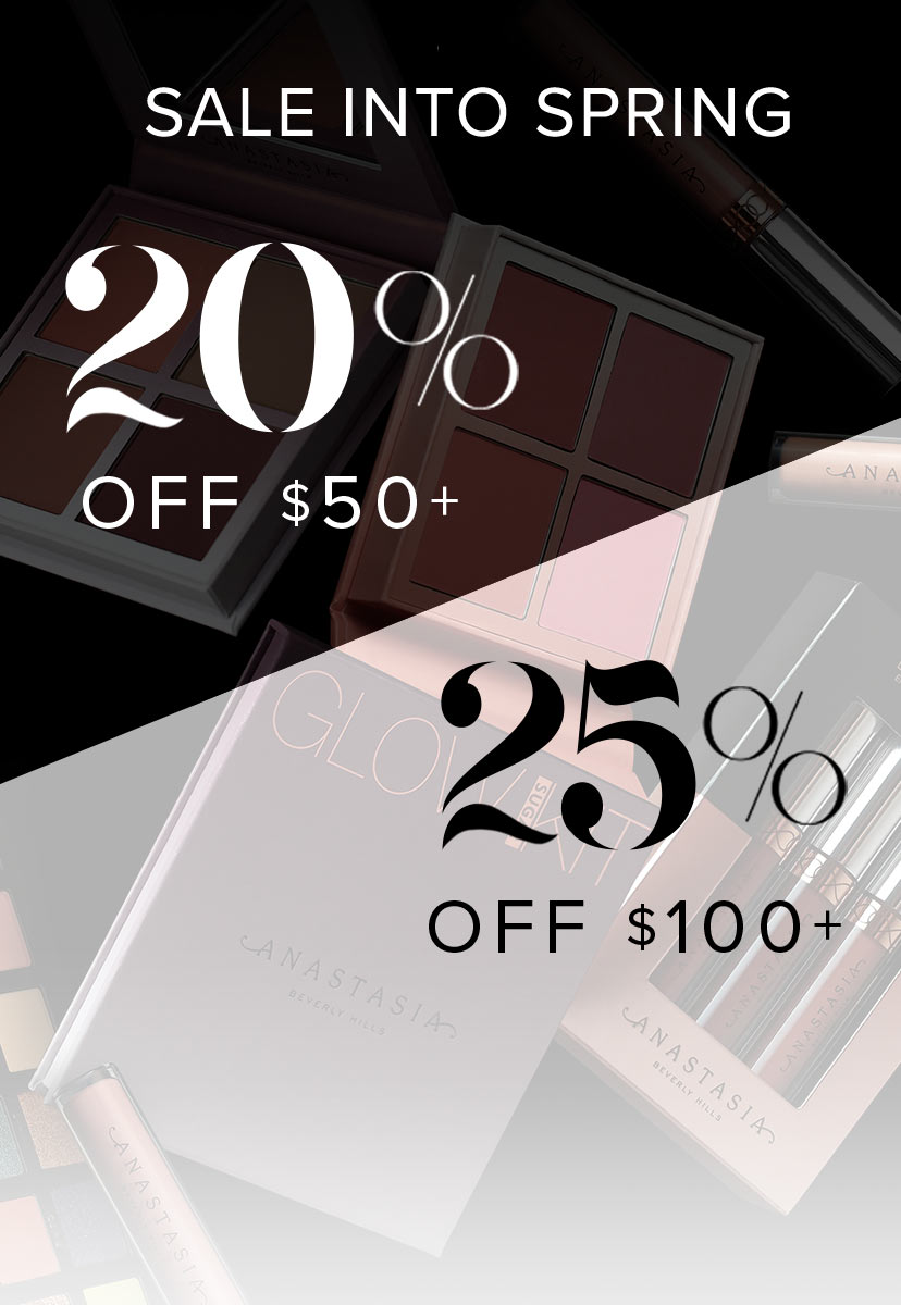 Save 20% on order $50 or more and 25% on orders $100 or more