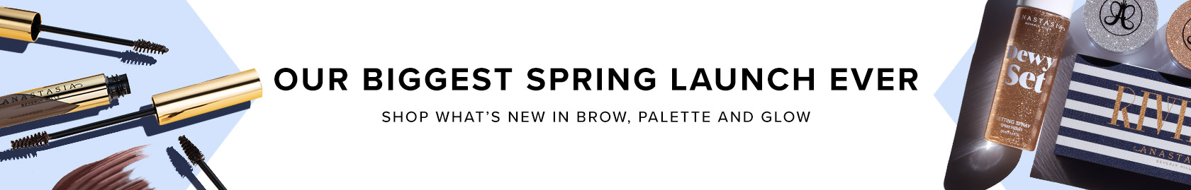Shop our biggest spring launch ever! New in Brow, Palette and Glow
