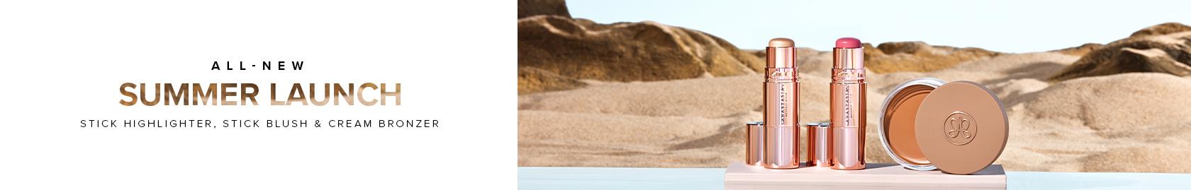 All New Summer Launch - Stick Highlighter, Stick Blush & Cream Bronzer