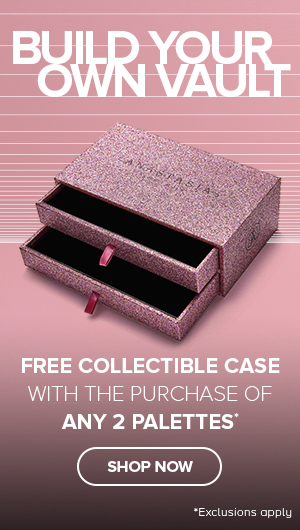 Free Collectible Case with the purchase of any 2 palettesr