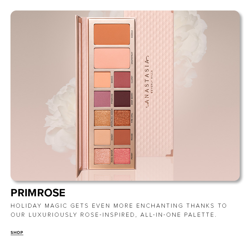 Primrose - Holiday magic gets even more enchanting thanks to our luxuriously rose-inspired, all in one palette