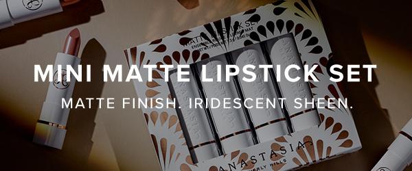 Mini Matte Lipstick Set - Matte Finish Iridescent Sheen