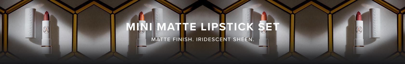 Mini matte lipstick set - matte finish, iridescent sheen