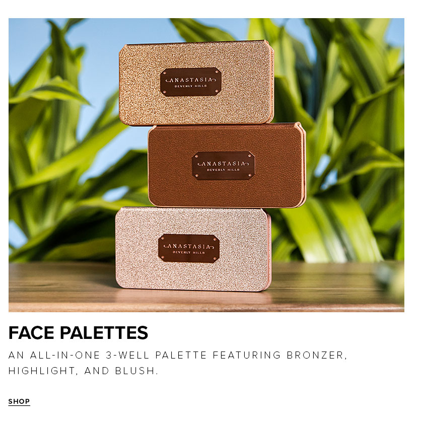 Face Palette an all in one palette featuring bronzer, highlight and blush