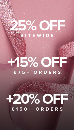 25% off sitewide | 15% off £75 | 20% off £150